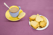 Butter cookies. Biscuits with different forms. Tea time
