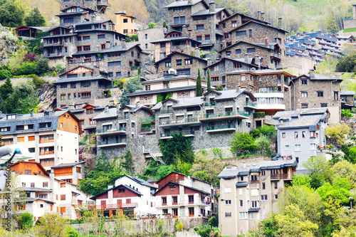 Residence houses at Pyrenees mountains