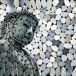 Bouddha, fond galets