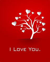 Baum mit Herzblättern