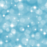 Seamless blue background with boke effect and stars