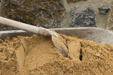 Baumaterial Sand