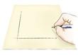 mano che disegna un grafico