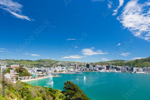 Canvas Nieuw Zeeland Bay of Wellington and harbour