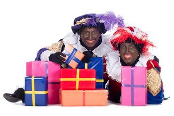 Zwarte Piet with presents
