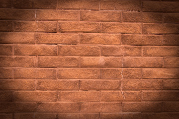 Pink orange front brick background