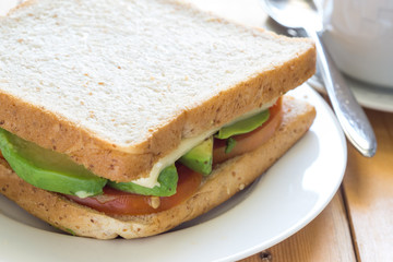 Avocado Sandwich (Whole wheat bread)