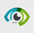 Colorful vector eye paper design