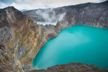 The Kelimutu lakes