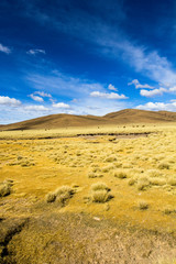 Desert and mountain on Altiplano,Bolivia