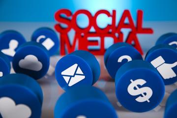 Social media icons set