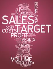"""Word Cloud """"Sales Target"""""""