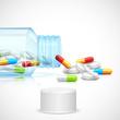 Medicine Capsule in Bottle