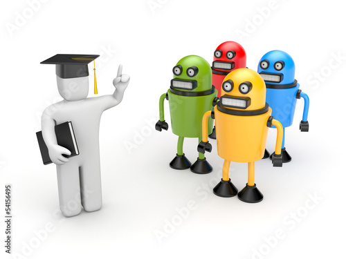 Students and lecturer or academic