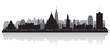 Ottawa Canada city skyline vector silhouette