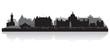 Victoria Canada city skyline vector silhouette