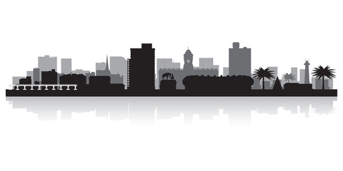 Port Elizabeth city skyline vector silhouette