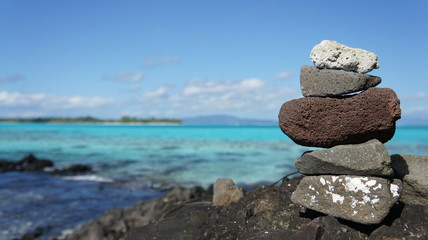 Bora Bora Zen stones