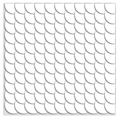 Seamless pattern of white circles