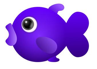 Cute fish purple