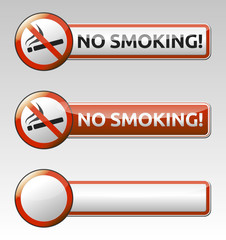No smoking prohibition sign banner collection