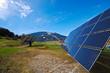 Sonnenkollektor Winder auf freiem Feld