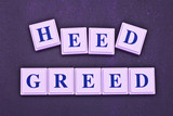 Do We Heed Greed? poster