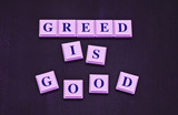 You Know Greed is Good poster