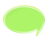 green 3d speech bubble