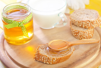 honey and bread