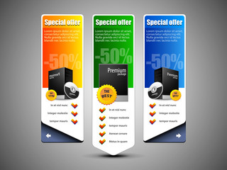 Special Offer Banner Set Vector Colored 10