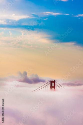 Fototapeten,golden gate bridge,frisco,sunrise,skyline