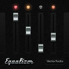 Hi-End UI Analog Volume Equalizer Level Mixer Knob Chrome