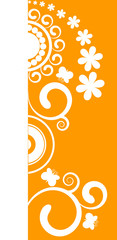 Beautiful orange floral border