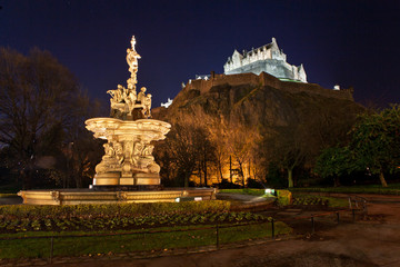 Castle in night