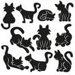Cute Cats Vector Set