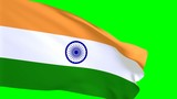 Indische Flagge im Wind - greenscreen
