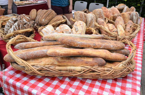 Organic Loaves at Farmers Market