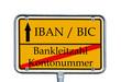 Schild - IBAN / BIC