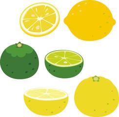 レモンとすだちとゆず