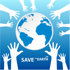 hands around Save the Earth