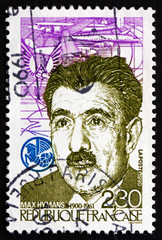 Postage stamp France 1990 Max Hymans, Leftist Politician