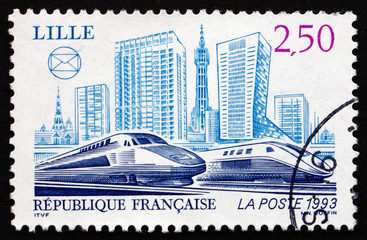 Postage stamp France 1993 Trains, Lille