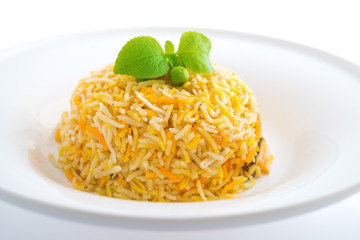 Indian plain biryani rice