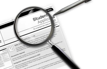student work Visa Application