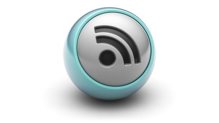 rss icon on ball. Looping.
