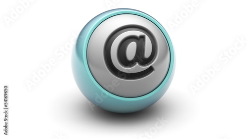 E-mail icon on ball. Looping.