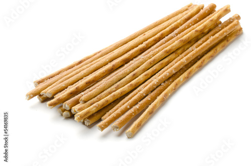 Salty baked breadsticks