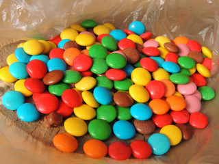 Multi-colored candy