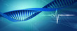 Digital illustration of a dna in abstract background